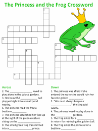 princess frog crossword puzzles
