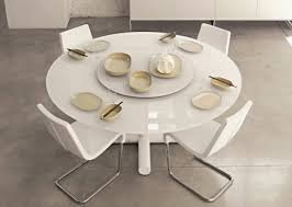 table ronde cuisine design table ronde laquée blanche avec rallonge table haute salle a manger