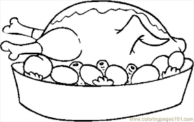 thanksgiving cooked turkey coloring pages getcoloringpages