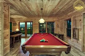 nc mountain rental cabins with pool tables in the bryson city