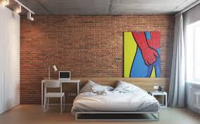 Bedroom Wall Ideas Brick Wall Bedroom Red Interior Brick Wall Decor For Bedroom With