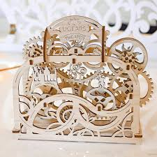 mechanical theatre wooden self assembly kit ugears by friendly