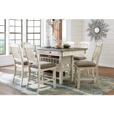 Counter Height Dining Room Furniture by White And Gray Rectangular Counter Height Dining Room Set