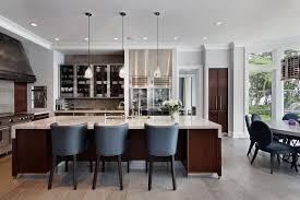 Pottery Barn Counter Stool Contemporary Kitchen With Crown Molding By Highgate Builders