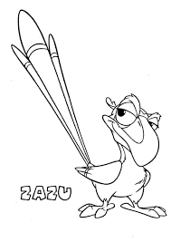 zazu 2 the lion king coloring page