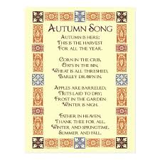autumn song thanksgiving poem postcard zazzle
