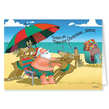 time for christmas funny beach christmas card stonehouse collection