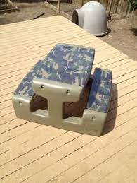 little tikes bench table little tykes makeover step 1 used spray paint primer to cover