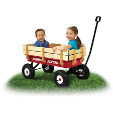 radio flyer full size all terrain steel u0026 wood wagon walmart com