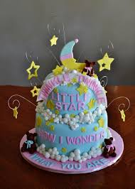 twinkle twinkle little star baby gender reveal cake cakecentral com