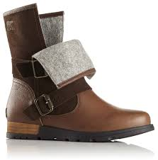 brown moto boots sorel major moto buy and offers on trekkinn