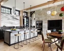 sleek industrial style kitchen design lake house retreat