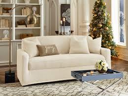 decorating lovely armchair design using surefit logan loveseat