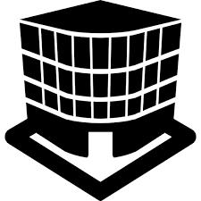 three building three dimensional building view icons free