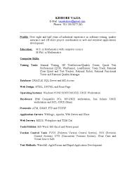 Qtp Resume 100 Qtp Tester Resume Sample Cfo Resume Free Resume Example