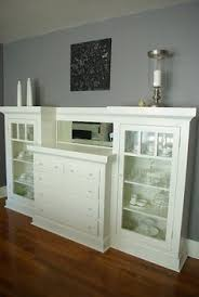 built in buffet with mini fridge in dining room echo dell