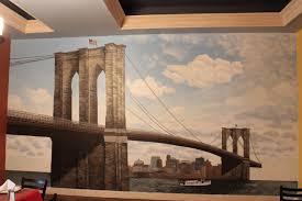 brooklyn bridge mural view from a burrow day 14