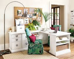 spring 2017 inspiration ballard designs how to decorate vibrant green palm leaf print in an office from ballard designs