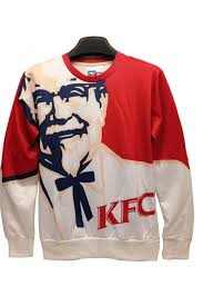 kfc founder print sweatshirts cool sweatshirts