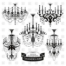 Black Chandelier Clip Art Silhouettes Of Chandeliers Vector Image Rfclipart Black