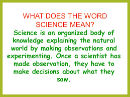 what does the word science ppt