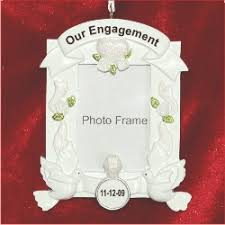 engagement frame personalized ornaments by