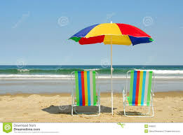Surf Chairs Beach Chairs And Umbrella Royalty Free Stock Photo Image 949825
