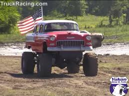 monster trucks in the mud videos video mudding in a bel air u2013 monster truck or classic chevrolet