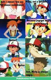 misty eat a snickers pokémon amino