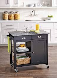 better homes and gardens kitchen cart black granite