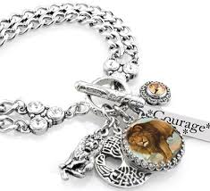 engraved charms lion jewelry personalized lion bracelet engraved lion charm