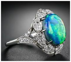 black opal engagement rings opal and diamond ring diamonds in the library