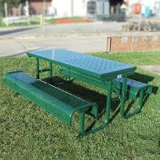 heavy duty picnic table long aluminium draffin