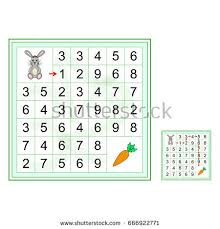 labyrinth numbers worksheet preschool kids vector stock vector
