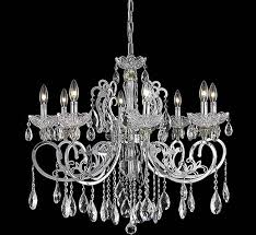 Moder Chandelier Aria Collection 8 Light Large Crystal Chandelier Grand Light
