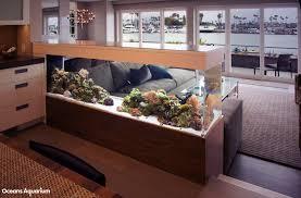 Beautiful Home Fish Tanks by 200 Gallon Living Reef Custom Aquarium Room Divider Peninsula