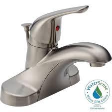 glomorous linden single hole bathroom faucet then metal drain
