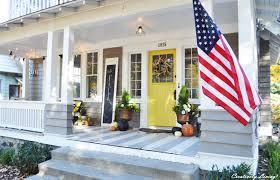 Porch Flag Fall Porch Creatively Living Blog