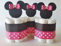 minnie mouse diaper cake centerpieces minnie mini diaper