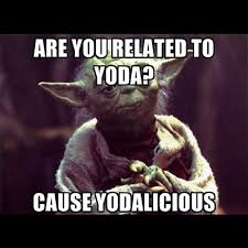 Funny Star Wars Memes - are you related to yoda cause yodalicious funny star war meme image