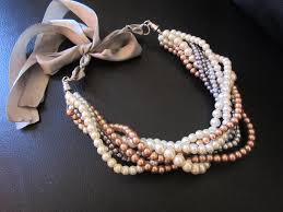 chunky necklace pearl images Ivory grey champagne pearl necklace chunky pearl necklace jpg