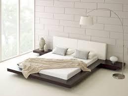 white shade table lamp floating bed frame design white blue
