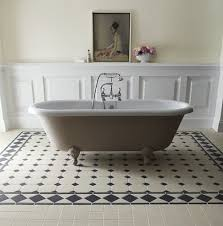 inspiration victorian black and white bathroom floor tiles in