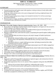 Logistics Resume Summary Property Manager Resume Summary Abigal Albright Writing Resume