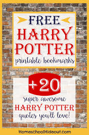 printable harry potter bookmark hp quotes harry potter