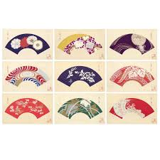japanese fans for sale yamaoka chinpei japanese fan design woodcut prints circa 1930