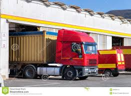 Trailer Garage by Exterior Of Truck Service Garage Stock Photos Image 35309113
