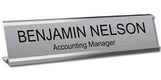 etched glass desk name plates engraved signs desk signs wall signs counter signs