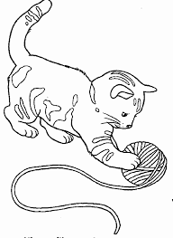 ball yarn kitten coloring color book