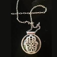 necklace brand images Lucky brand jewelry hamsa hand tourmaline necklace poshmark jpg
